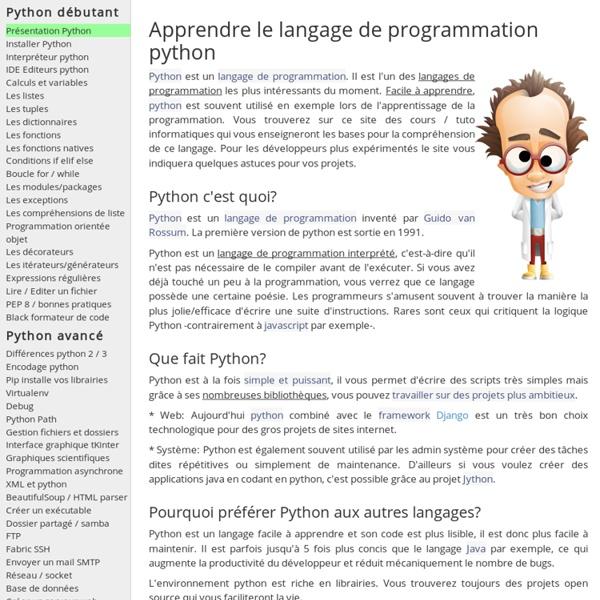 Python Apprendre programmation Django Raspberry Pi - Cours tutoriels Tuto documentation française- langage de programmation orienté objet poo