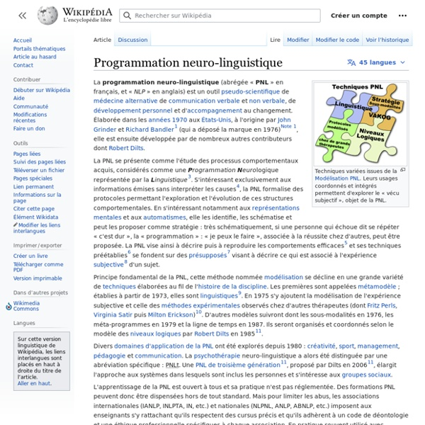 Programmation neuro-linguistique