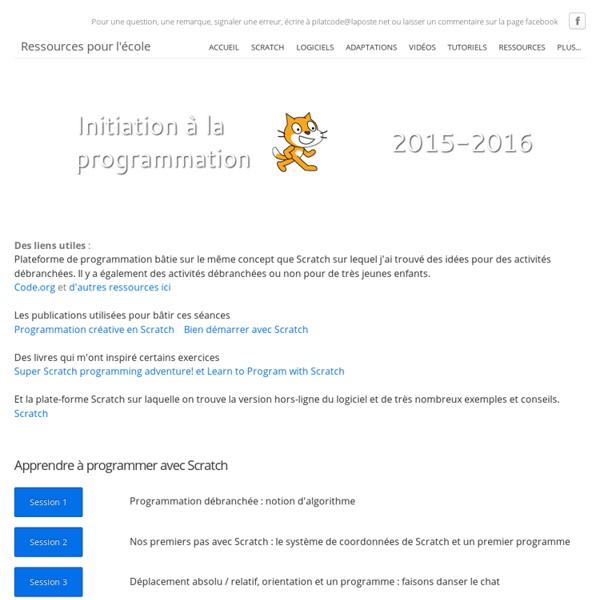 Programmation Scratch - Ressources pour l'école