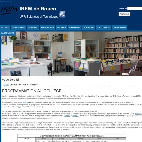 """IREM de Rouen <br><h2>UFR Sciences et Techniques <img src=""""/st.png"""" height=""""50px""""></h2>"""