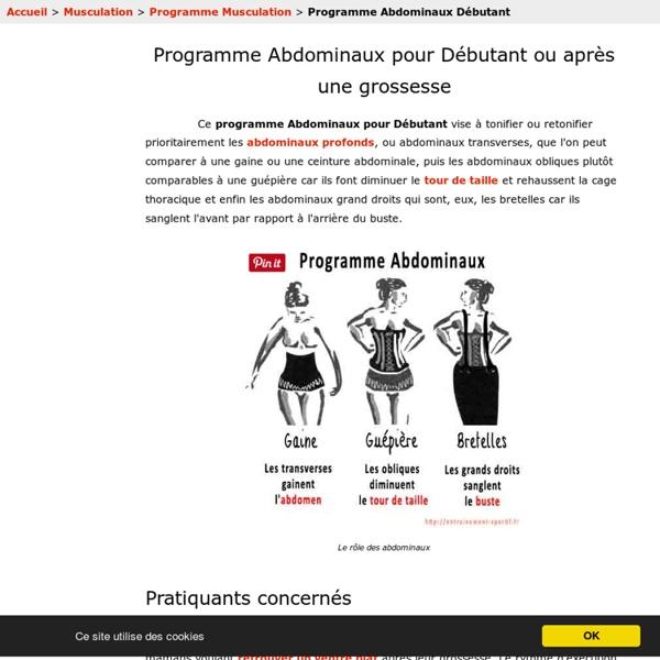 Musculation des abdominaux: programme pour débutant