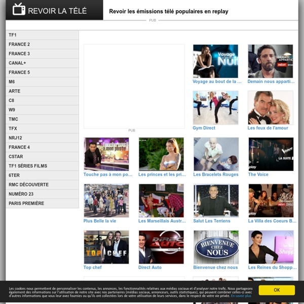 REVOIR LA TÉLÉ: Le programme TV des émissions populaires en replay