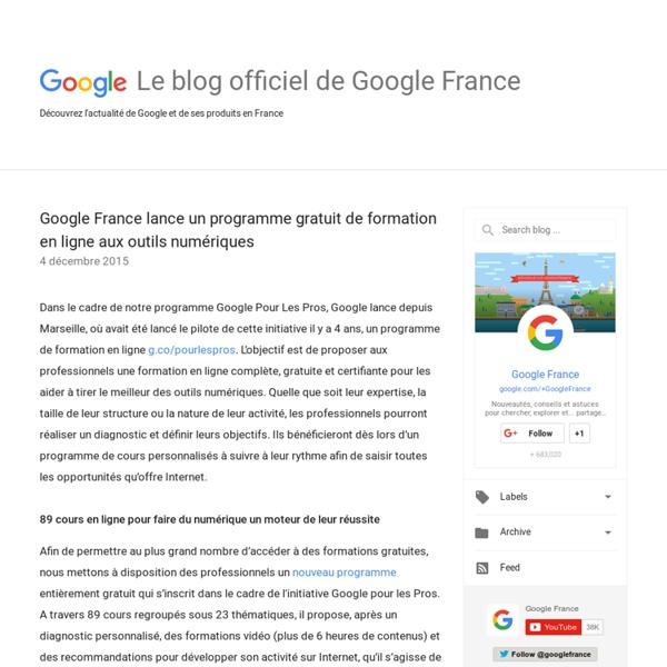Google France lance un programme gratuit de formation en ligne aux outils numériques