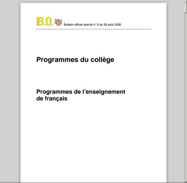 Programme collège