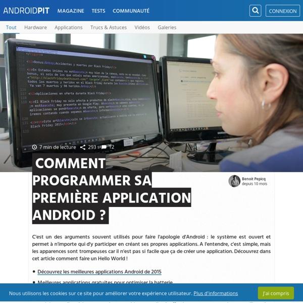Tutoriel développeurs : programmer sa première application Android