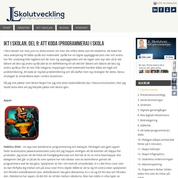 IKT i skolan, del 9: Att koda (programmera) i skola