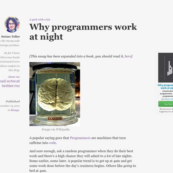 Why programmers work at night