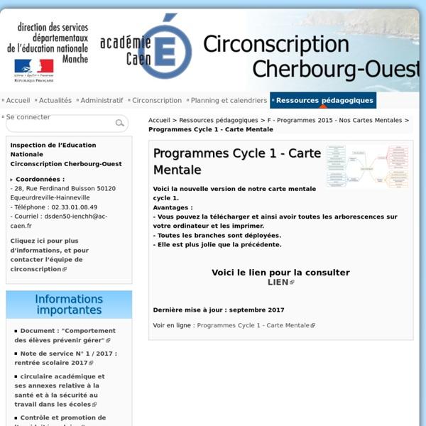 Programmes Cycle 1 - Carte Mentale - Circonscription de Cherbourg Ouest
