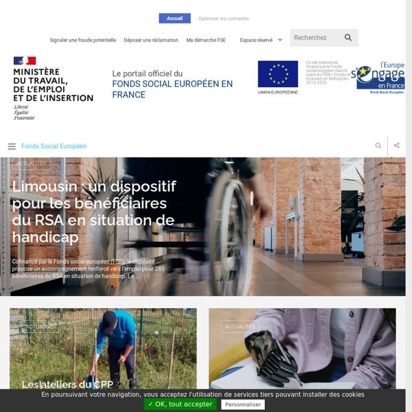 FSE - Fonds Social Européen en France