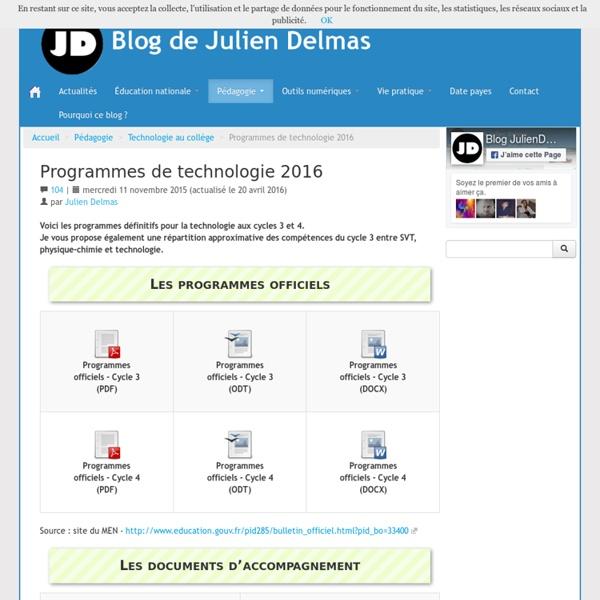 Julien Delmas Calendrier.Programmes De Technologie 2016 Blog De Julien Delmas