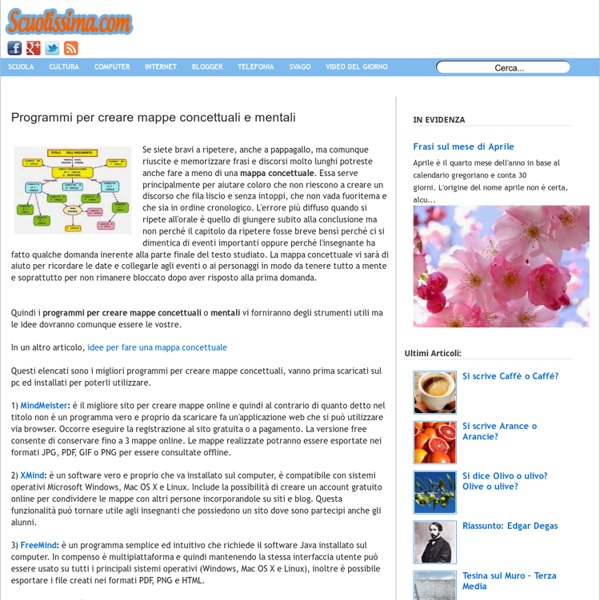 Programmi per creare mappe concettuali e mentali