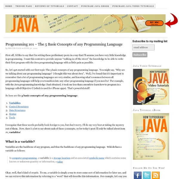 how to start with java programming language