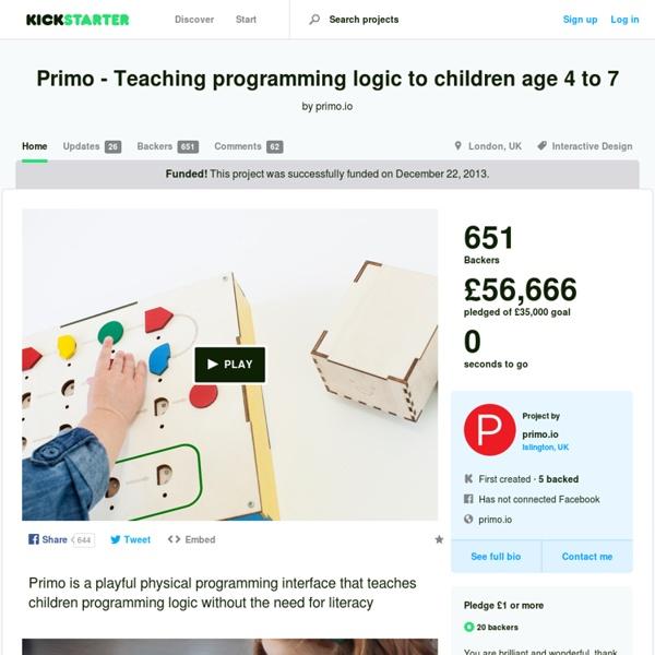 Primo - Teaching programming logic to children age 4 to 7 by primo.io