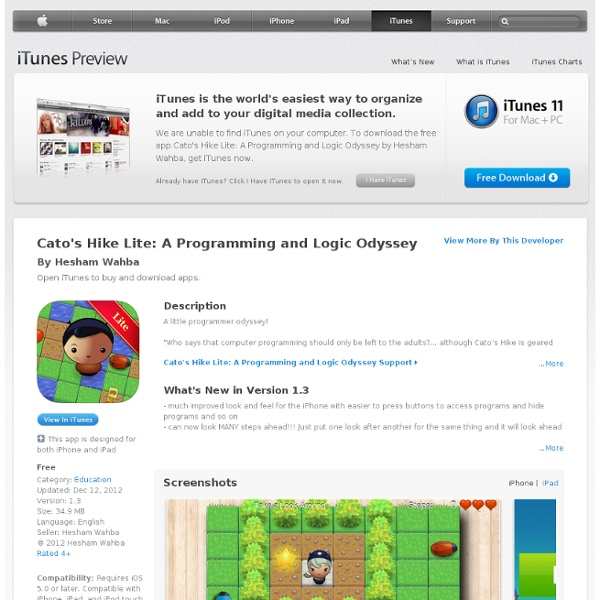 Cato's Hike Lite: A Programming and Logic Odyssey