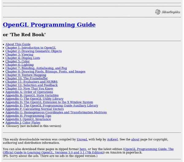 OpenGL Programming Guide (Addison-Wesley Publishing Company): Ta