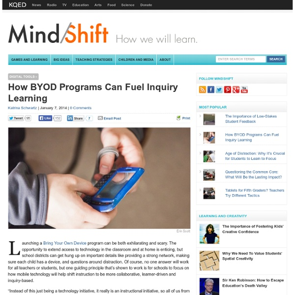 How BYOD Programs Can Fuel Inquiry Learning