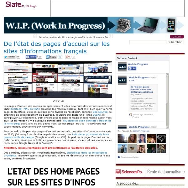 De l'état des pages d'accueil sur les sites d'informations français