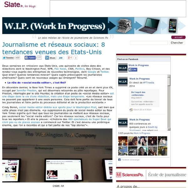 Journalisme et réseaux sociaux: 8 tendances venues des Etats-Unis