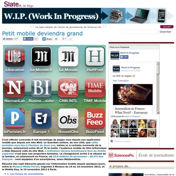 Lemonde.fr fait davantage de pages vues depuis son application mobile que depuis son site Web