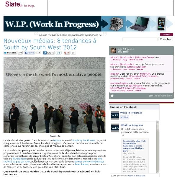 Nouveaux médias: 8 tendances à South by South West 2012