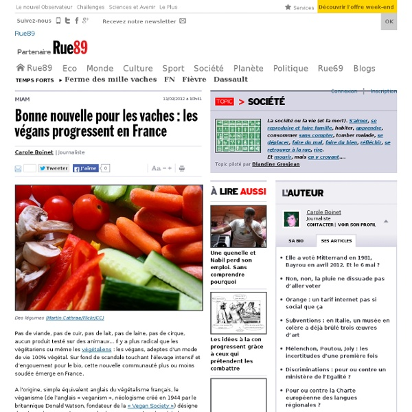 Bonne nouvelle pour les vaches: les végans progressent en France