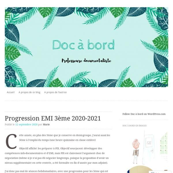 Progression EMI 3ème 2020-2021