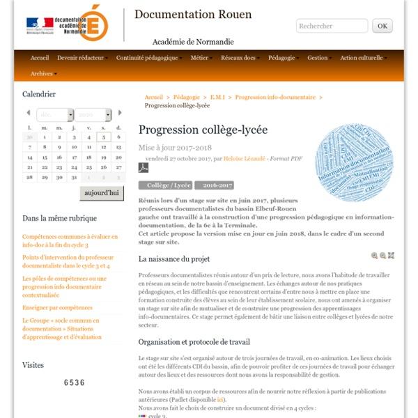 Progression collège-lycée - Documentation Rouen