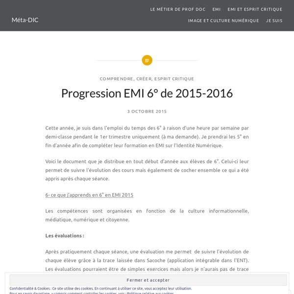 Progression EMI 6° de 2015-2016