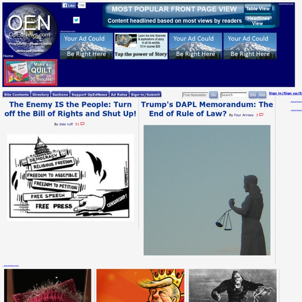 Opednews.com Progressive, Liberal United States and International News, Opinion, Op-Eds and Politics