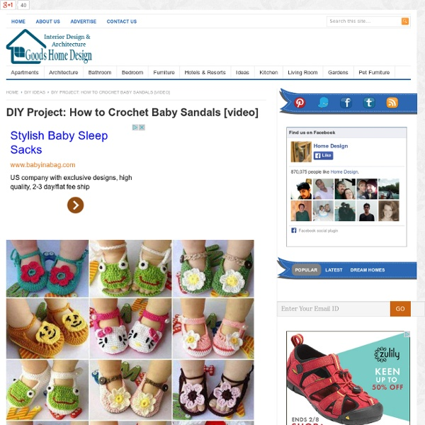 DIY Project: How to Crochet Baby Sandals
