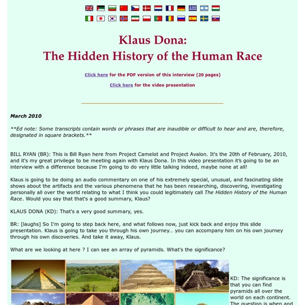 Project Avalon - Klaus Dona: The Hidden History of the Human Race