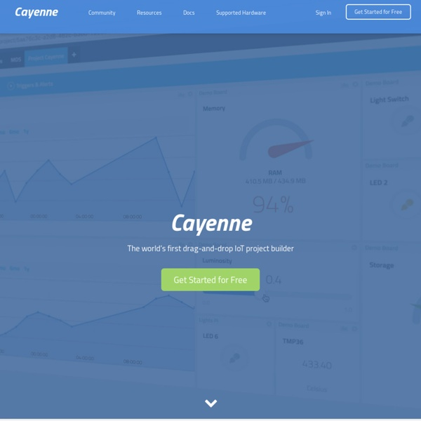 First IoT Project Builder - myDevices Cayenne