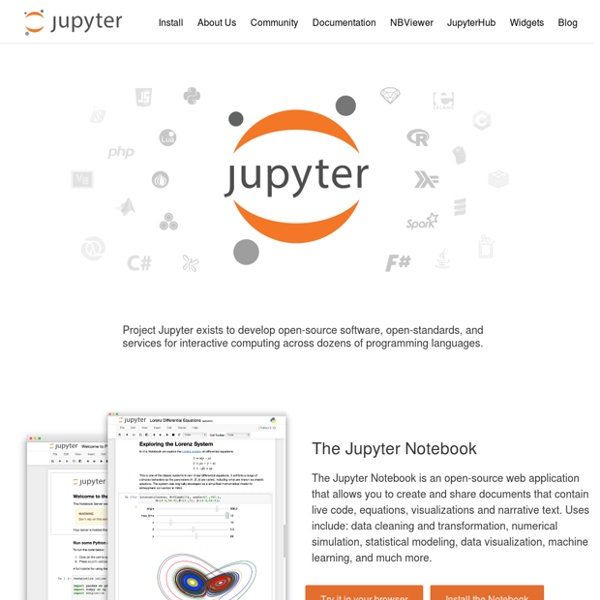 Project Jupyter | Pearltrees