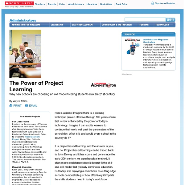 The Power of Project Learning