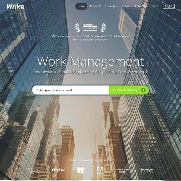 Wrike - Gestion de projet et solutions de collaboration en ligne