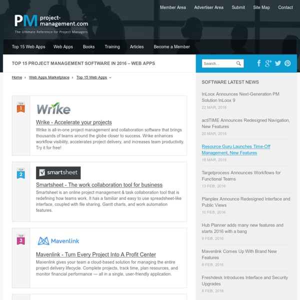 project management web software Project management software definition - project management software is software used for project planning, scheduling, resource allocation and change.