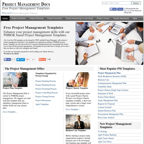 Free Project Management Templates  PMBOK Templates