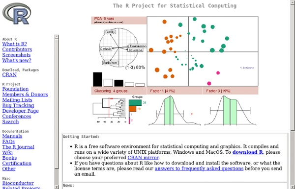 the r project for statistical computing S - the r project for statistical read more about revolution, designing, flexible, confidential, analysis and appendix.