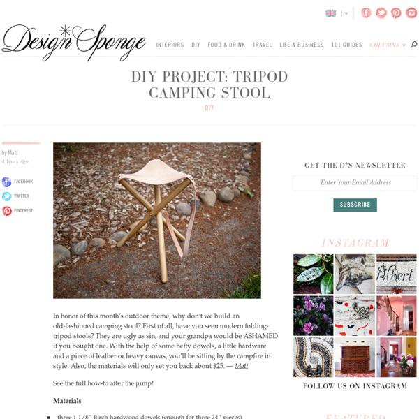 Tripod camping stool