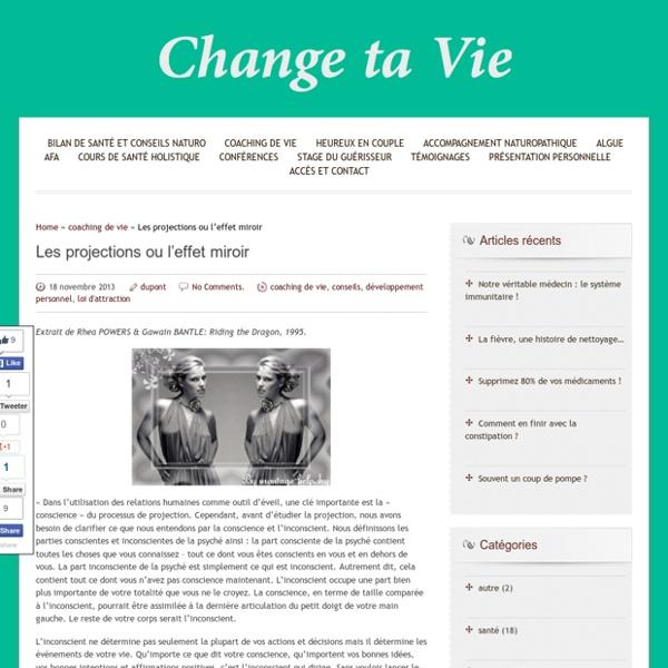 Les projections ou l'effet miroir - Change ta vie - Cédric Dupont