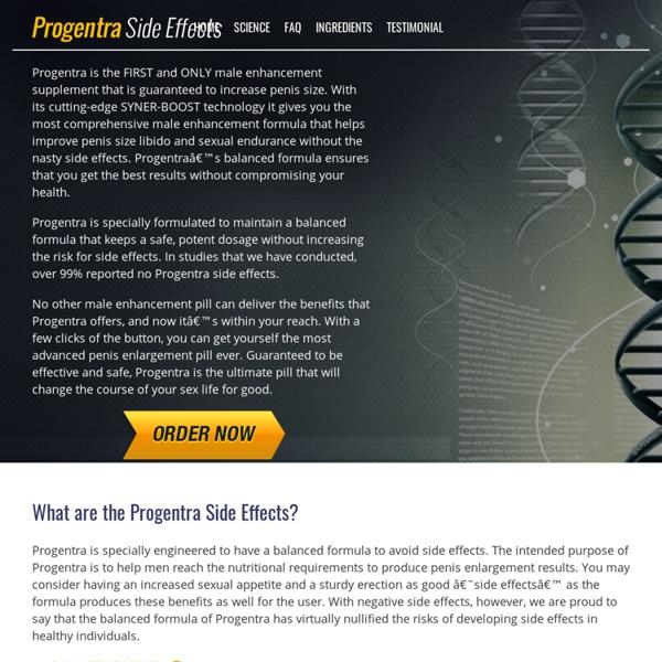 Progentra Side Effects