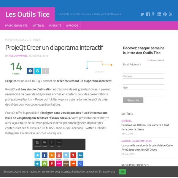 ProjeQt Creer un diaporama interactif