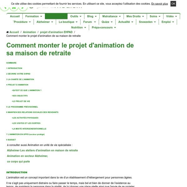 Le projet d 39 animation d 39 un ehpad d 39 une maison de retraite for Animation musicale maison de retraite