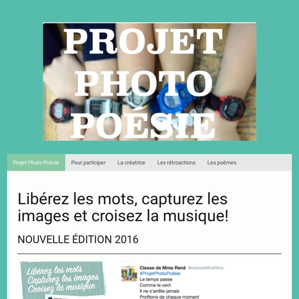 Projet Photo Poésie - Site de projetphotopoesie !