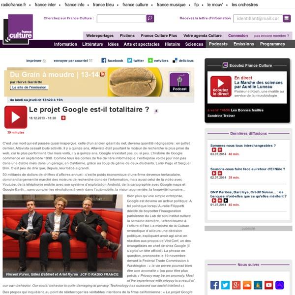 Le projet Google est-il totalitaire ? - Idées
