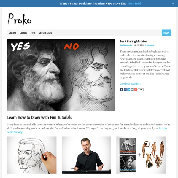 Proko - How to Draw, Draw Step by Step, Draw People, Draw Face, How to Paint, Learn to Draw, Drawing Tutorials, Figure Drawing