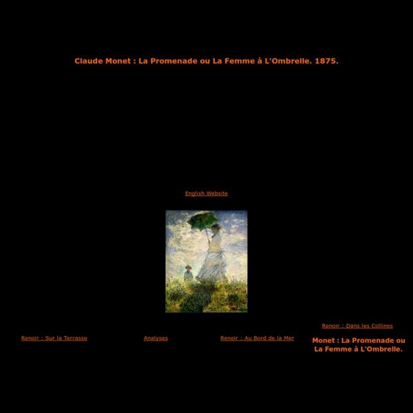 Claude Monet,la promenade ou la femme à l'ombrelle
