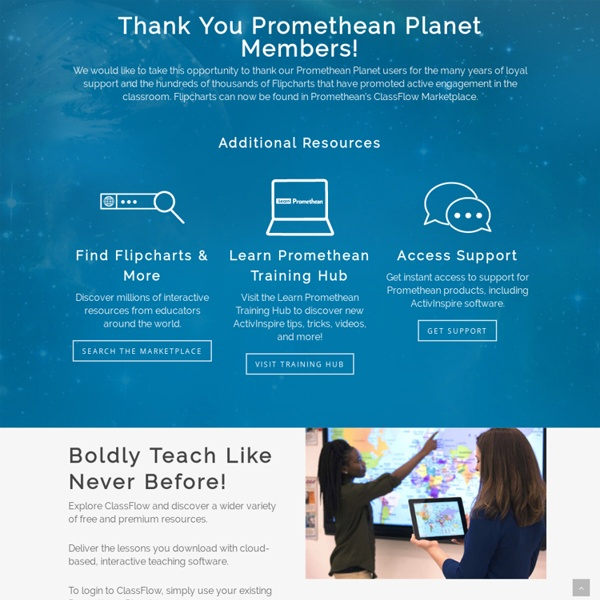 Promethean Planet - Interactive Teacher Community, Interactive Whiteboard Lessons and Resources, Online Lesson Plans, Teaching Resources