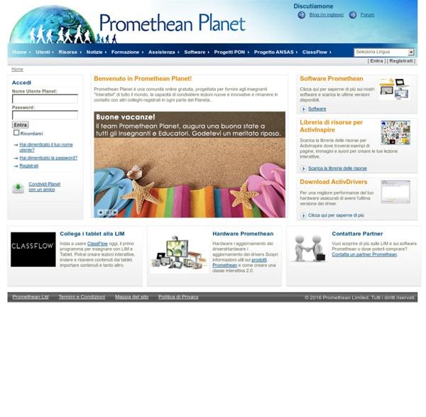 Promethean Planet Italia - La più grande comunità per utilizzatori di LIM