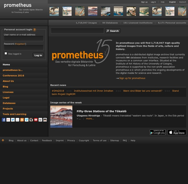 The prometheus Image Archive: High-quality images from the fields of arts, culture and history